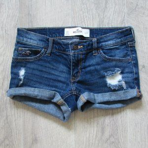 Hollister Medium Wash Distressed Shorts Size 00